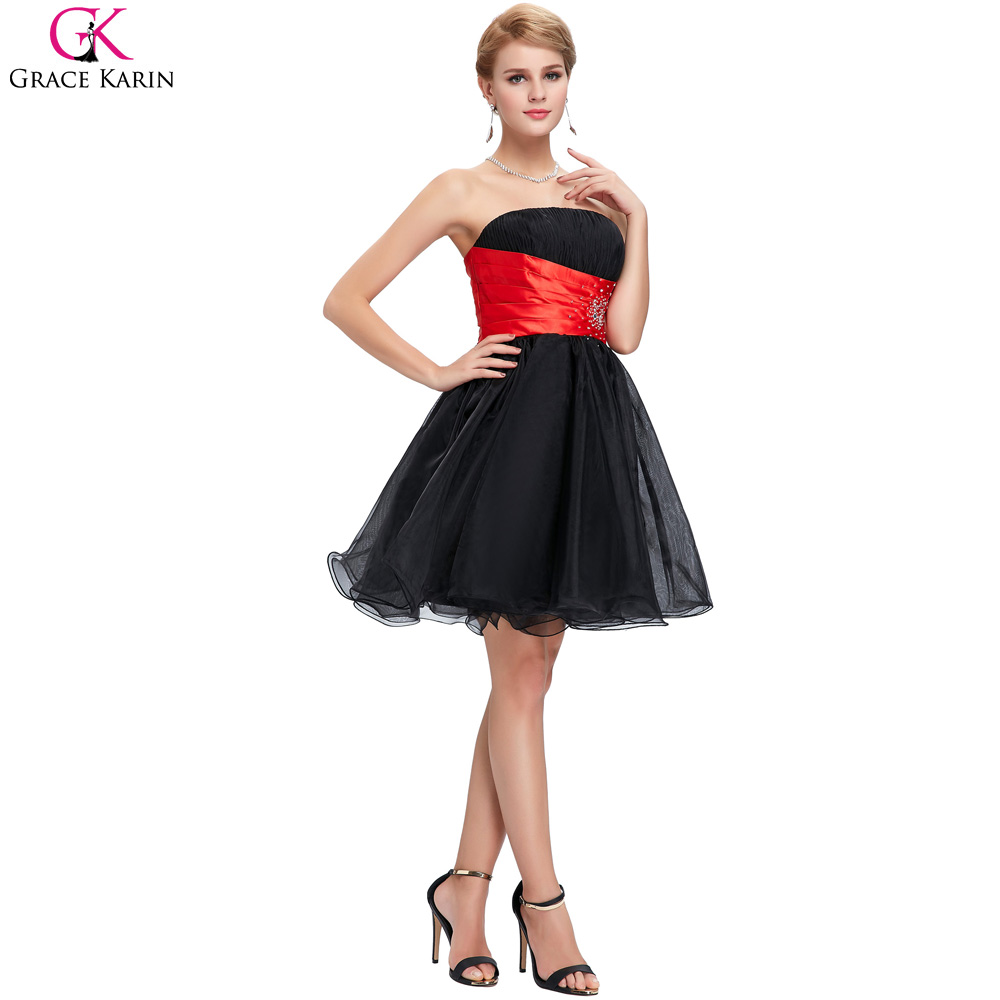 Grace Karin Cocktail Dresses 2017 Black White Blue Yellow Short Prom Dress  Party Gowns Special Occasion Dress Vestidos Coctel-in Cocktail Dresses from  ... dbdd1dad4