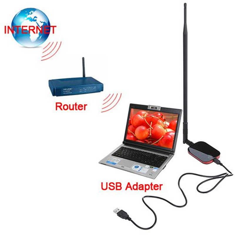 Antena Wifi adaptador Wifi USB KuWfi de 150Mbps RT3070, receptor Wifi, tarjeta de red USB inalámbrica con Internet de 9dBi gratis para PC/ordenador portátil