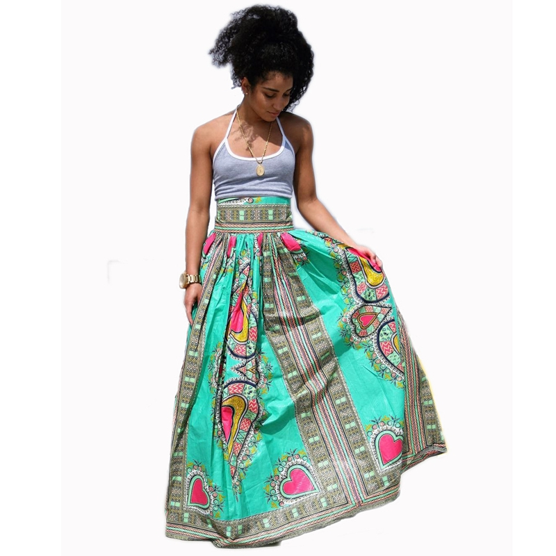 a2295a43c Women Casual Fashion Long Skirts 2016 New Traditional African Print Skirt  Women A-Line Plus Size Dashiki Vintage Maxi Skirts