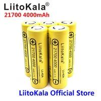 2020 5 uds LiitoKala Lii-40A 21700 batería recargable de iones de litio de 4000mAh 3,7 V 15A de 5C de descarga de la batería 21700
