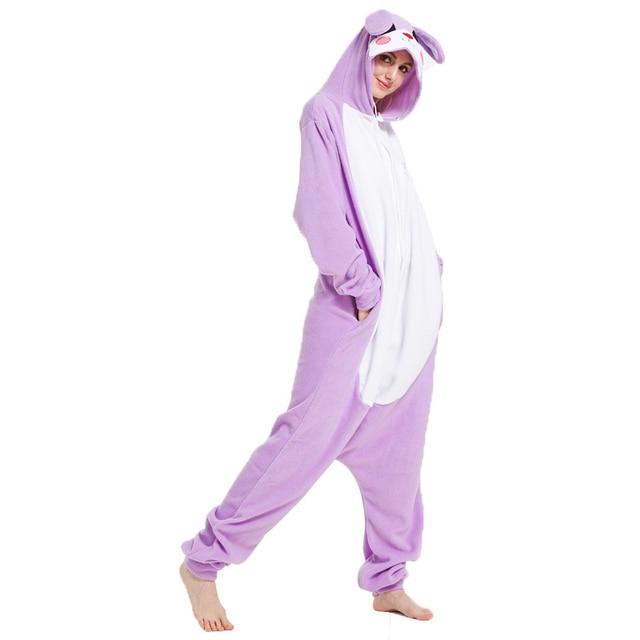 Soft Animal Onesies Rabbit Kigurumi Bunny Pajamas For Adults Onesie Women  One Piece Pyjamas Cosplay Costume For Halloween Party 58f8a9c712