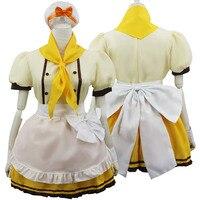 Lovelive! Love Live! Baker Pastry Cook Maidservant Dress Cosplay Kostum Set Uniform woman Dress Anime Costume