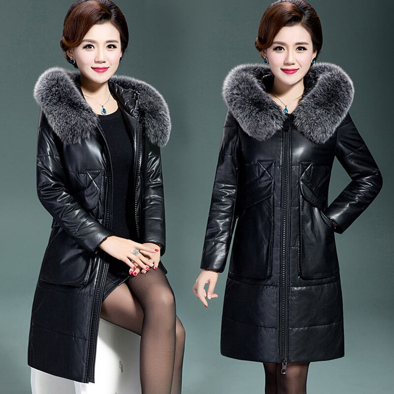 New winter women's down jacket High imitation fur leather plus size overcoats maternity clothing pregnancy jacket warm clothing free shipping 2017 winter warm dhl brand clothing vintage jackets mens genuine pakistan cow leather biker jacket plus size