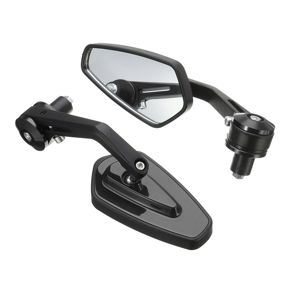 Universal Motorcycle <font><b>7</b></font>/8'' 22mm Aluminum Rear View Side Mirror Handle Bar End image