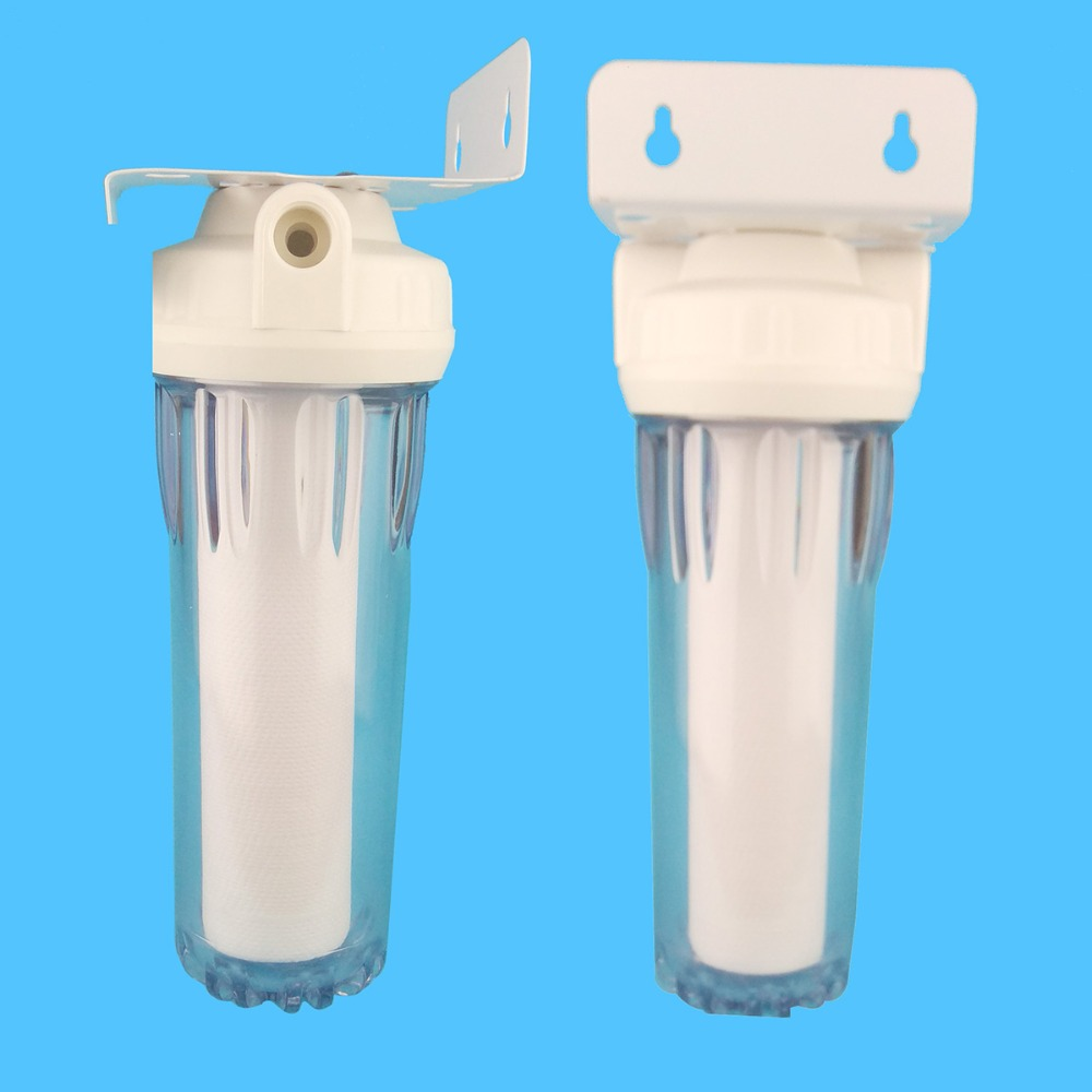 Clear 10 inch single Lever water filter 1/2\