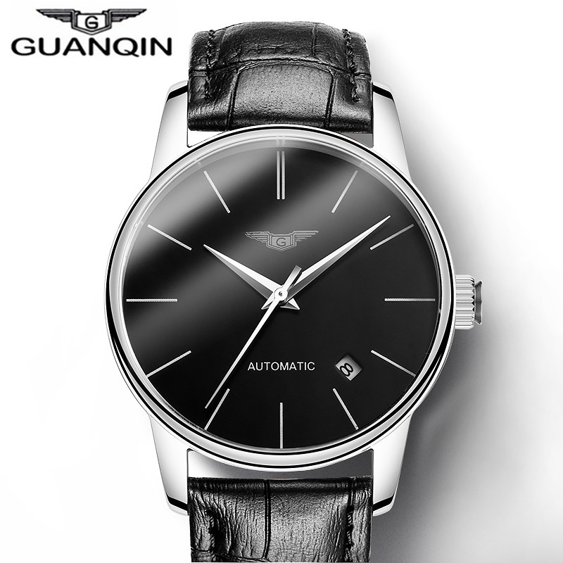 Watches Men Luxury Brand  Fashion Waterproof Automatic Mechanical Watch Sport Leather Steel case Male Clock Relogio Masculino
