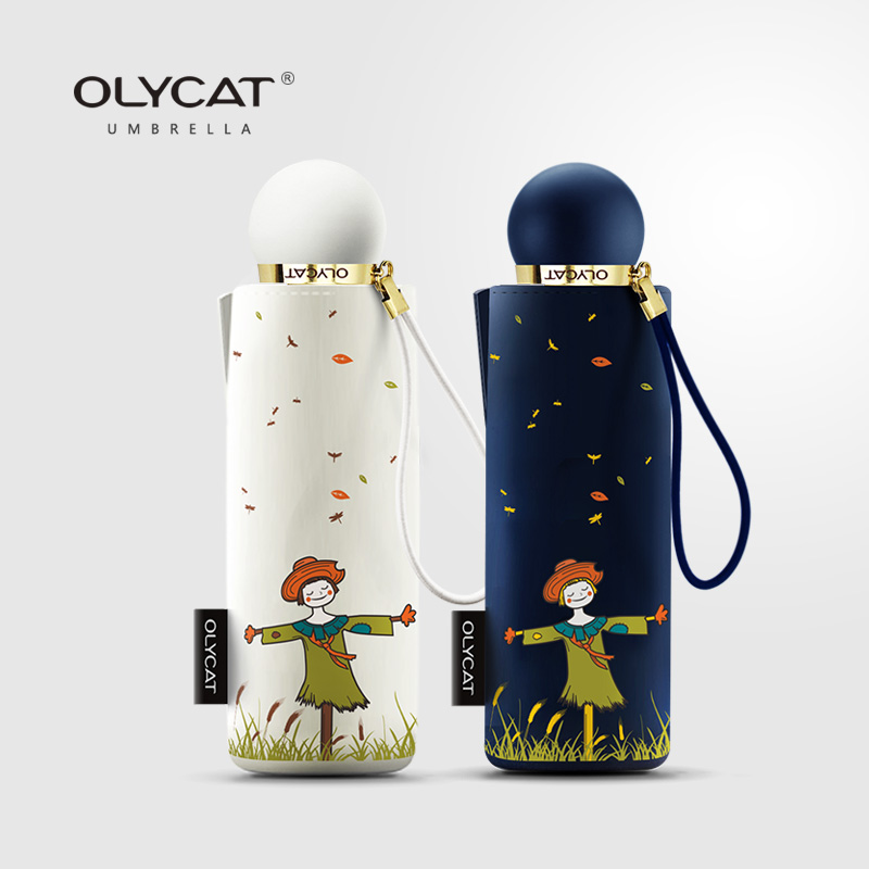 OLYCAT The new mini umbrella is easy to carry Strong sunscreen.lovely and beautiful as a gift.
