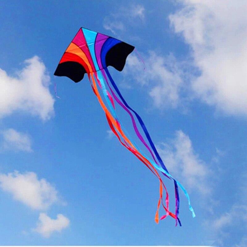 անվճար առաքում թռչող ծիածանի ուրուր նեյլոնե ripstop բացօթյա խաղալիքներ ութոտնուկ ուրուր լարային պարաշյուտ kites պտտվող պայուսակ եղանակով vane weifang
