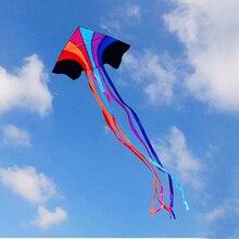 Купить с кэшбэком free shipping flying rainbow kite nylon ripstop outdoor toys octopus kite string parachute kites reel bag weather vane weifang
