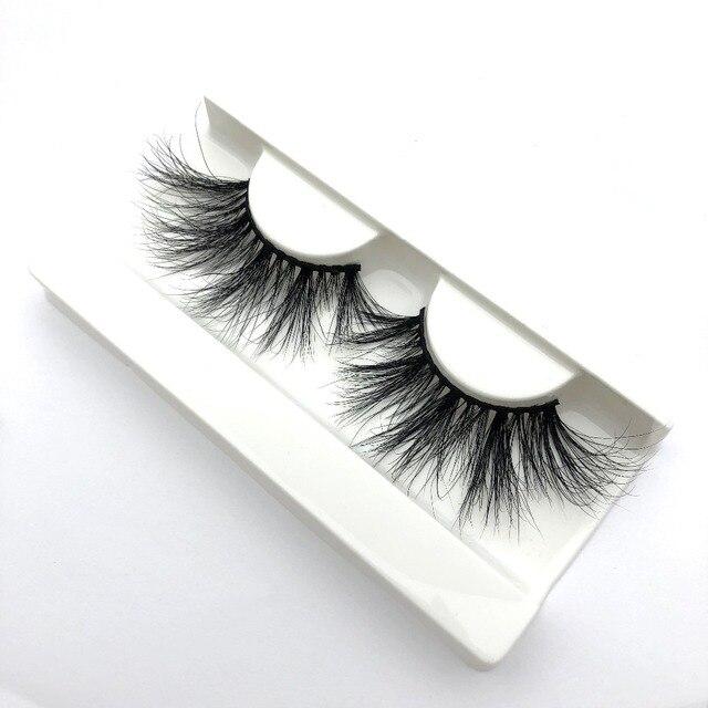 d0b98ea5646 buzzme 25mm Long 3D mink lashes extra length Big dramatic False Mink Lashes  100% Cruelty free Handmade fake lashes