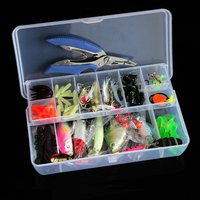 4 Styles Fishing Lure Minnow Popper Wobbler Spoon Metal Lure Soft Bait Fishing Lure Kit Isca