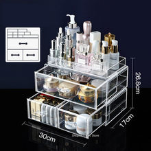 New Makeup Organizer Cosmetic Jewelry storage box Nail Polish Rack Lipstick Cosmetic Holde Display Boxes(China)