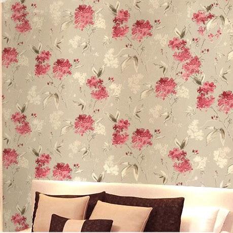 pinkyellowpurpleblue modern flower wallpaper printed wall paper modern floral wallpaper - Flower Wallpaper For Walls