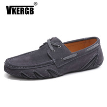 купить men shoes genuine leather luxury brand designer shoe fashion high quality Lace-up casual swede hot sale loafers man driving shoe по цене 1795.02 рублей