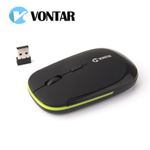 VONTAR Professional 2.4G ultra thin usb optical wireless mouse USB Receiver Mice for Laptop PC Optical Gaming Mouse(China)