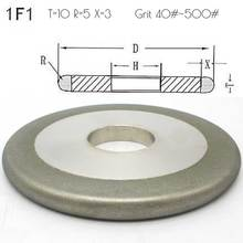 1 piece round edge Electroplated diamond grinding wheels for carbide stone agate grinding DD064 wheels go round level 1