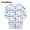 Cute Cartoon Helicopter Printed Baby Rompers Infant Long Sleeve O-neck Jumpsuit Soft Cotton Toddler Clothes