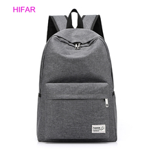 2019 Women Men Leisure Canvas Backpacks Large School Bags For Teenager Boys Girls Travel Laptop Backbag Mochila Rucksack Grey