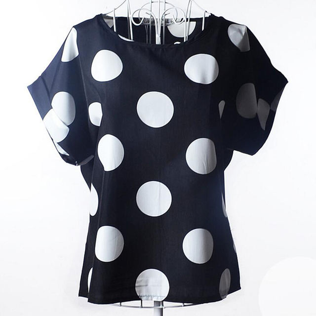 CHSDCSI Summer Blouse Print Tops Women Polyester Stripe  Short Sleeve Casual Shirts Love Blusas Ladies Shirt Chiffon Blouses 5