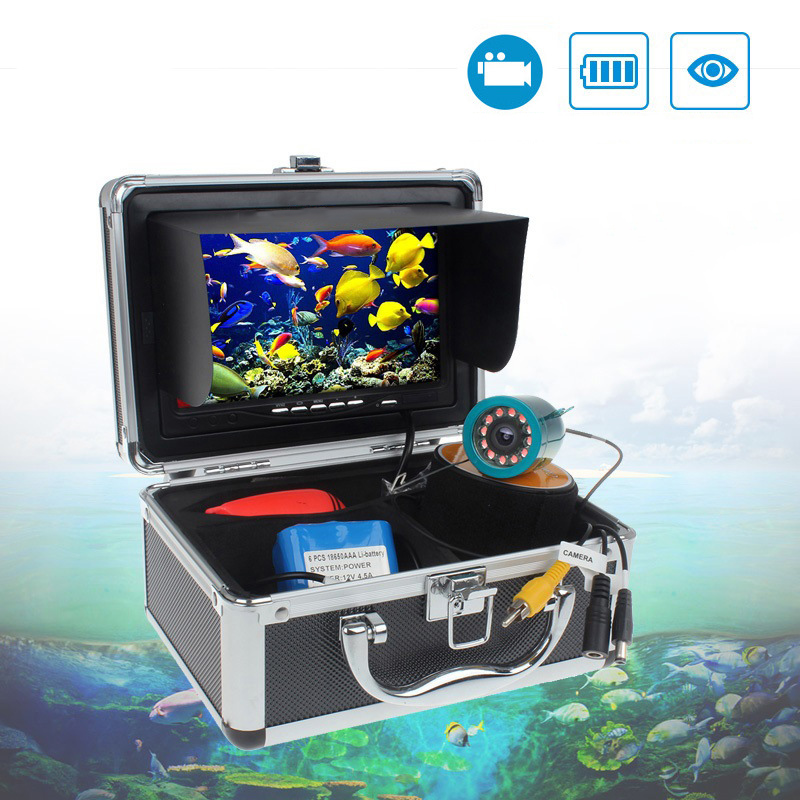 Auto 9 Inch Marine Gps Waterproof IP68 50 Meters High Definition 1000 Line Infrared White Light Fishing Fish Detector Display 8
