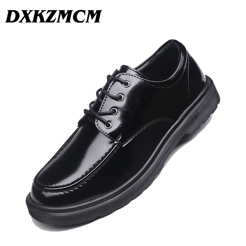 DXKZMCM Men Formal Shoes Round Toe Business Wedding Leather Oxford Shoes For Men Dress Shoes new 2017 black leather men dress shoes men s flats formal business shoes wedding dresses shoes oxford shoes slip on round toe