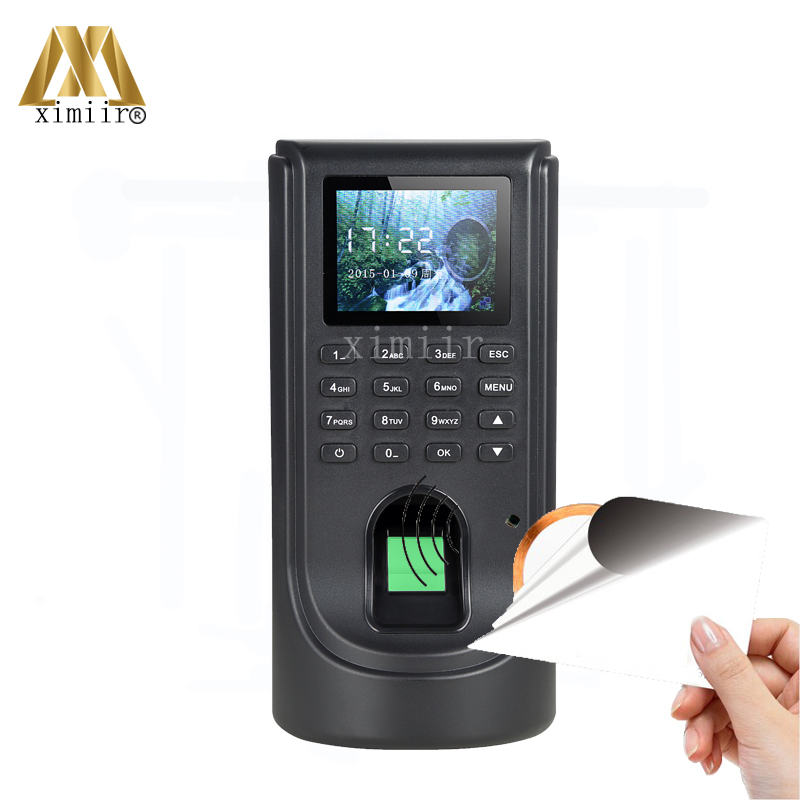 F805 Fingerprint Access Control System Door Access Control With MF IC Card Reader Access Controller With Time Attendance outdoor mf 13 56mhz weigand 26 door access control rfid card reader with two led lights