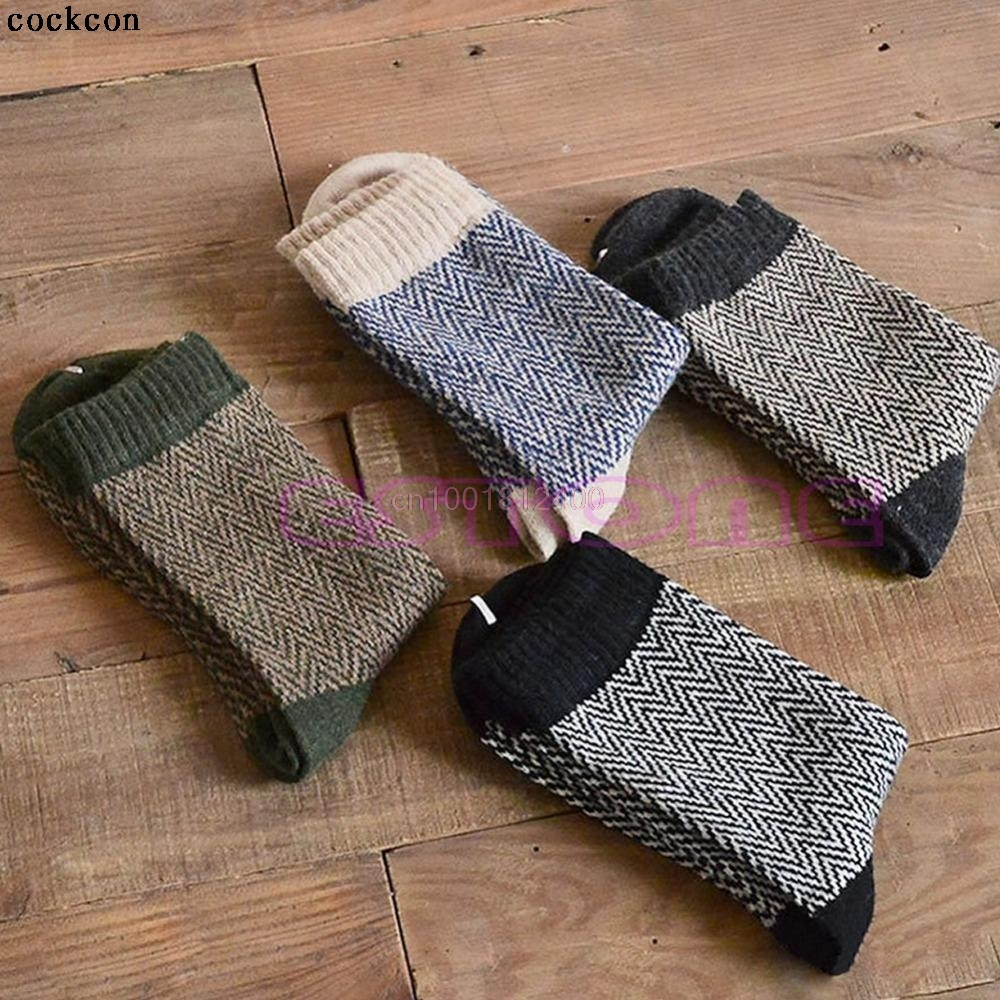 4Pairs Mens Warm Winter Thick Angora Cashmere Casual Dress Wool Mixture Socks