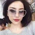 Sunnies HBK 2016 Luxo Diamante De Óculos De Sol do Metal do Ouro/Rosa/Prata Quadro Oversize Óculos de Sol Das Senhoras UV400