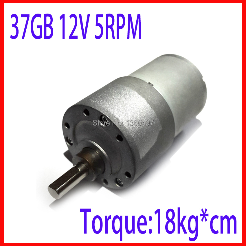 Powerful dc motor 12v 37GB 37MM 12V 5RPM High Torque Gear Box Electric Motor 12v brushless dc motor fan electric boat motor zga37ree 37mm miniature dc gear motor adjustable speed motor reversing 12v 24v 5rpm 350rpm