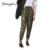 2016 das Mulheres calças Calças Lápis de mulheres Calças Basculador Outono Harem Pants Mulheres Calças de Camuflagem Militar Solto Confortável