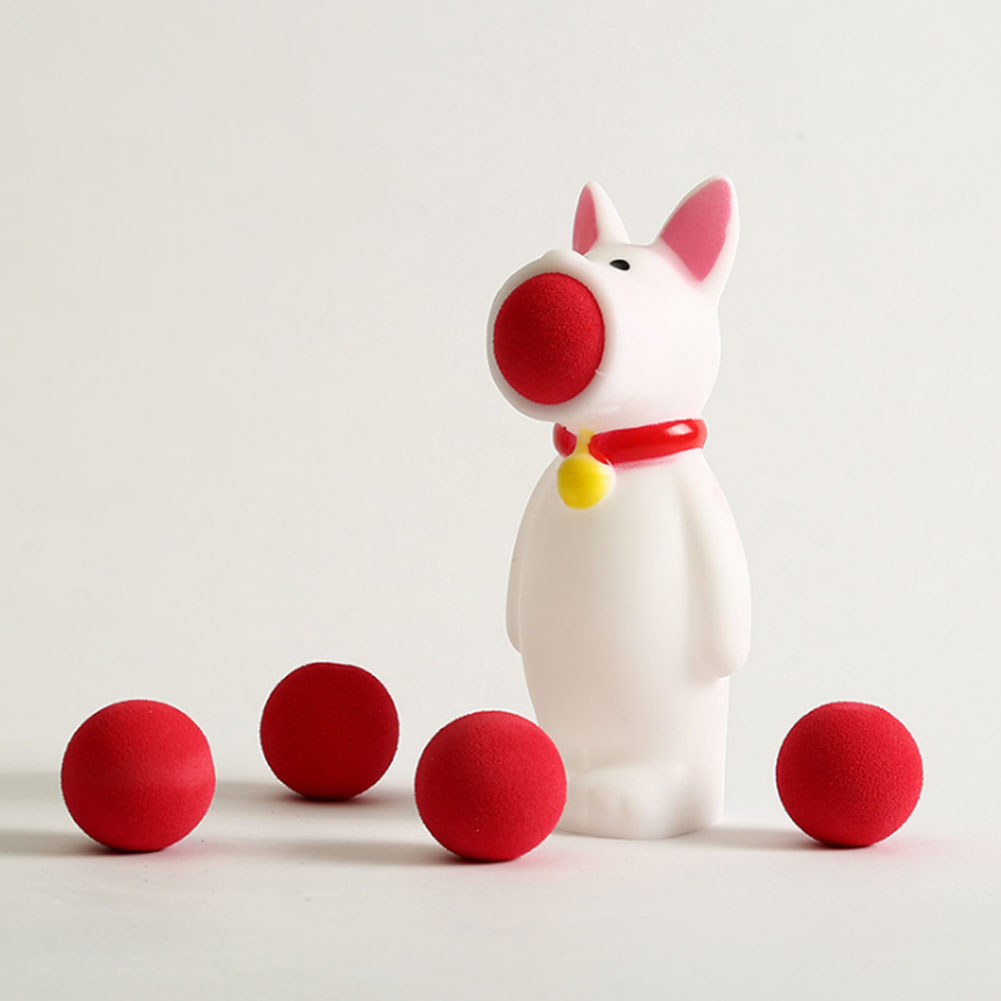 Animal Popper Toys Lovely Shooting Squeeze Toys Creative Spit Balls Toy For Children, Kids-White Bunny