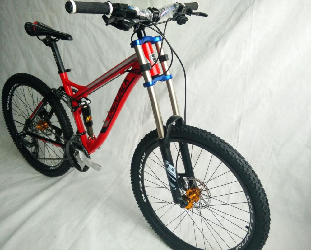 Perfect tyre dirt bike   Full suspension  AM/XC    Hydraulic brakes  new cycling bicicleta mountain bike  21/24/27/30 speed  26*17inch 2
