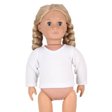 Doll Clothes Long White Sleeves T shirt And Short Sleeves T shirt American Girl Doll