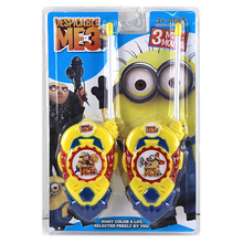 2pcs lot Minion Cartoon Toy Interphone Children Game Intercom Electronic Toy Walkie Talkies Toys For Kid