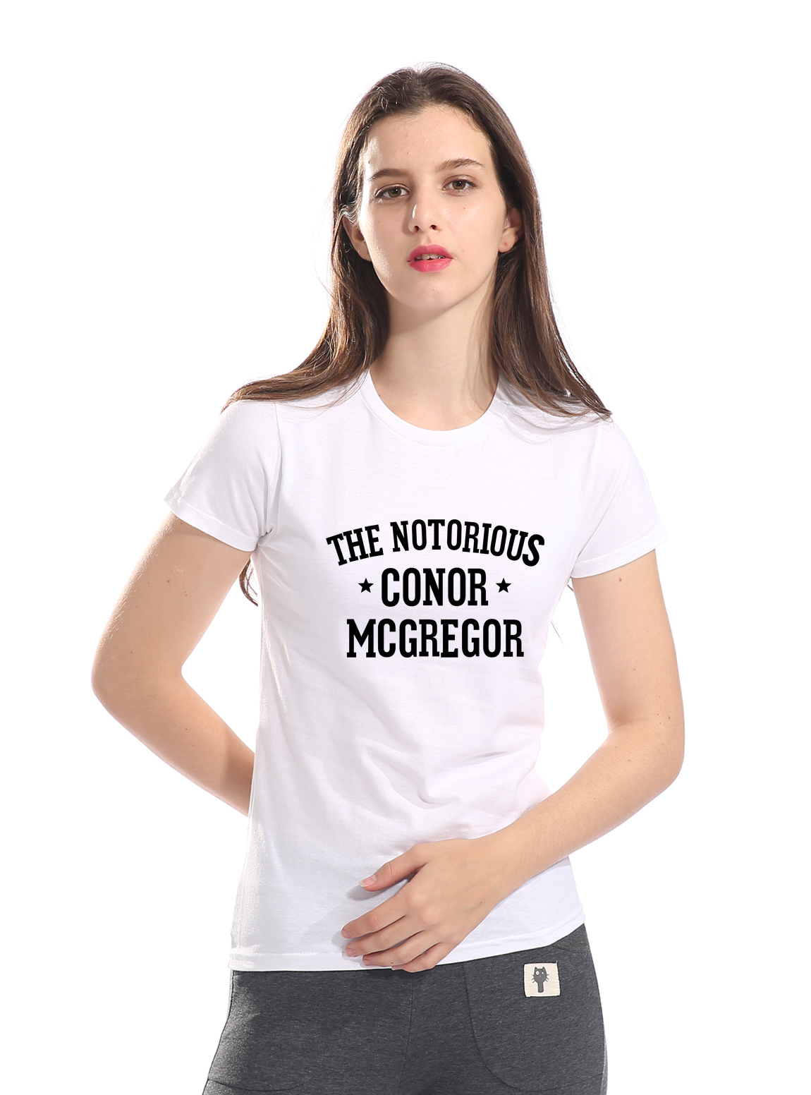 The Notorious Conor McGregor Letters Printed T Shirt Women 2019 Summer Cotton Casual Streetwear Women's T-shirts Brand Top Tee