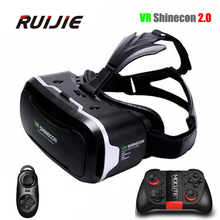 VR Shinecon 2.0 Virtual Reality Glasses helmet VR Box 3.0 3D Glasses Headset Cardboard For 4.7-6.0 inch Android IOS Smartphone