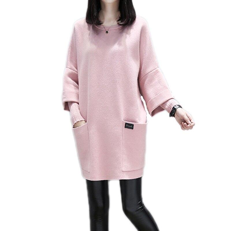 3XL 4XL Lady Fashion Long Sleeve O Neck Sexy Club Women Work Dress Slim Bodycon Knitted Sweater Short Party Night Dress