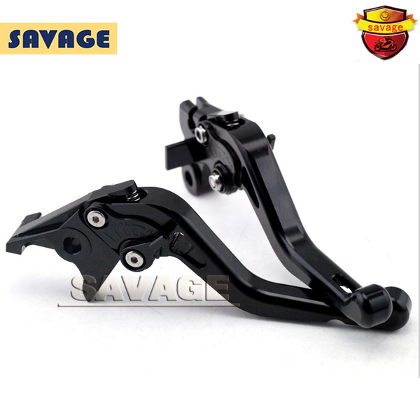 ФОТО For HONDA CB600F HORNET 2007-2013 Black Motorcycle CNC Billet Aluminum Short Brake Clutch Levers