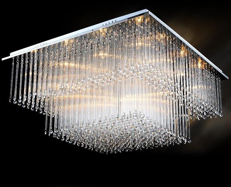 Plafoniere In Cristallo Miglior Prezzo : Salotto moderno di cristallo plafoniera quadrata luci led