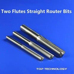 Мм 1 шт. 3,175 мм SHK Два флейты прямой Резьба Инструменты две канавки Фрезы с ЧПУ прямая гравировка резаки для SIM карт