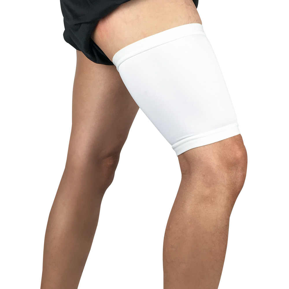 1ピース脚スリーブ太ももカバースポーツ保護弾性調節可能なバスケットボールサイクリング圧縮スリーブ