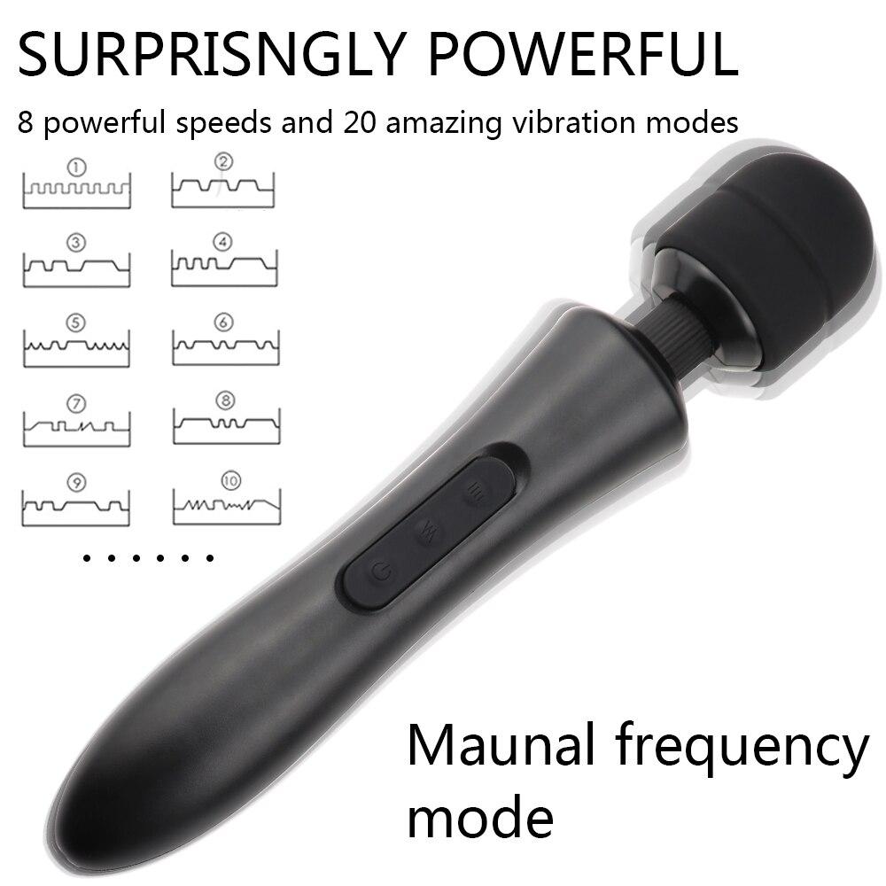 Man nuo Powerful Super Big Body Massager Vibrator Strong Vibration Sex Toys for Women Clitoris Stimulator Adult AV Vibrators in Vibrators from Beauty Health