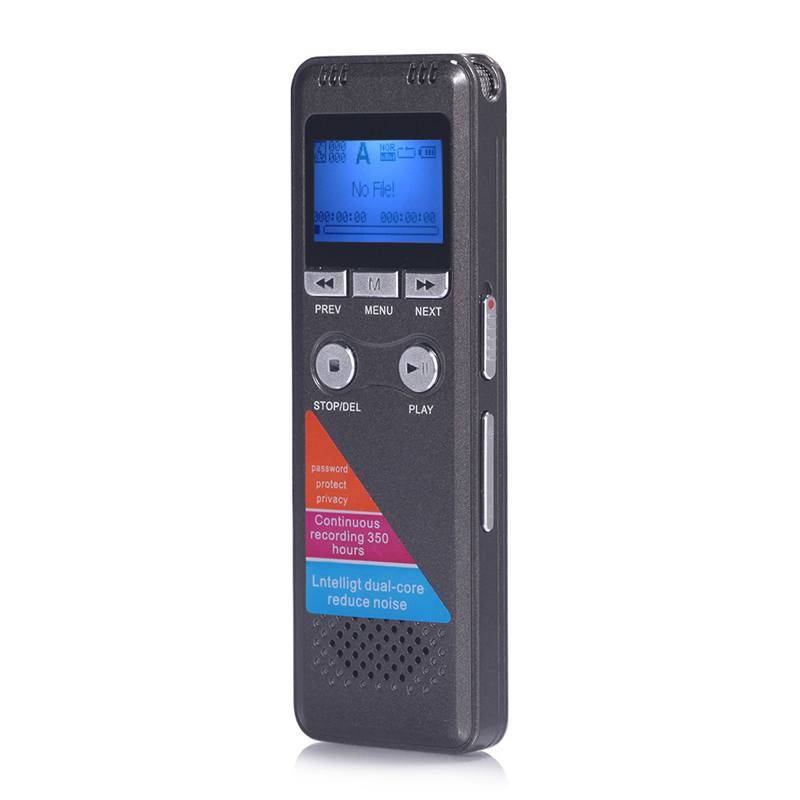 Yulass 8GB Digital Voice Recorder Professional Grey USB 2 0 Multi Language Long recording Equipment With WMA WAV MP3 Player in Digital Voice Recorder from Consumer Electronics