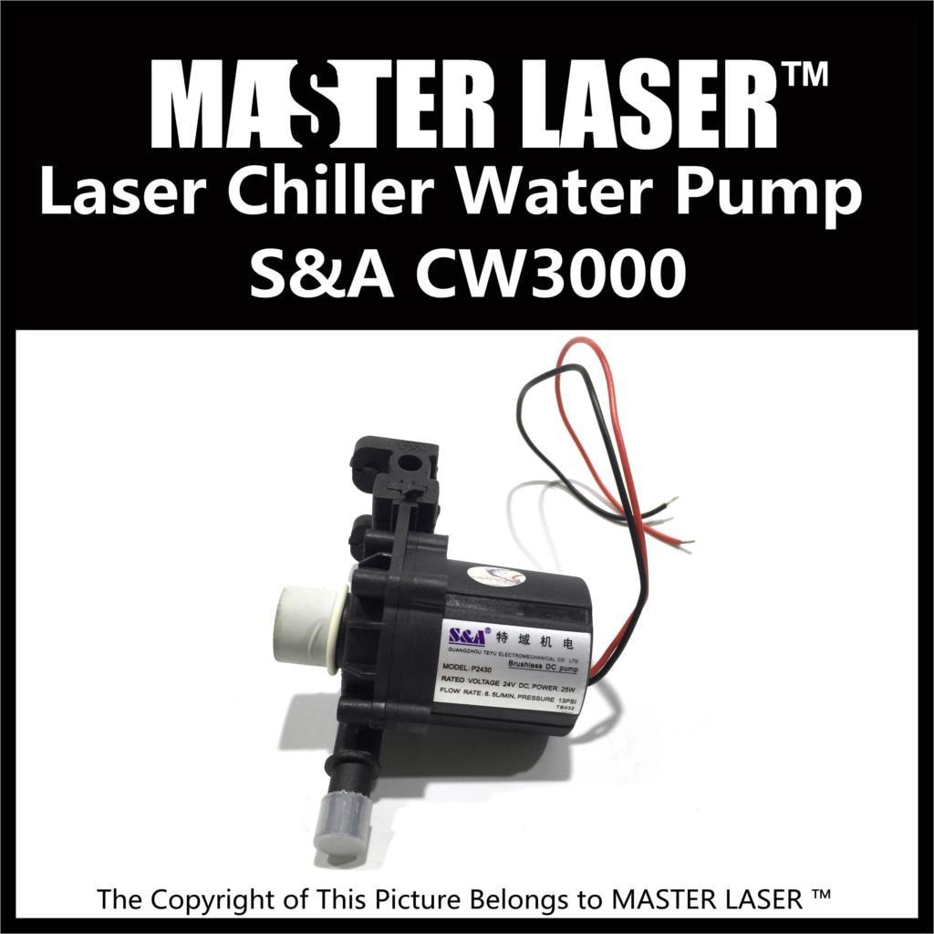 CO2 60W Laser Cutting Machine Industry Water Cooling 40W Laser Marking Machine Chiller CW-3000 Water Pump