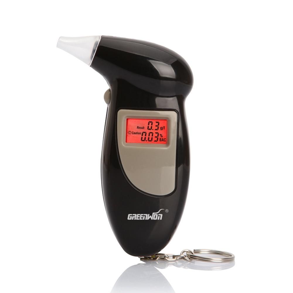 GREENWON 68S Алкотестер Цифровой детектор алкоголя Алкотестер полицейский Алкотестер Подсветка дисплея белая коробка нет руководство