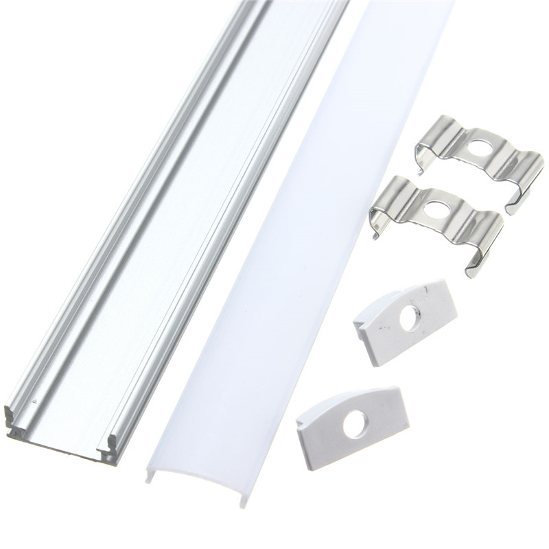 50cm U-Style V-Style YW-Style Aluminium Channel Holder for LED Strip Light Bar Under Cabinet Lamp Kitchen 1.8cm Wide