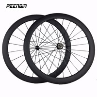 1580g!OEM factory sale 50mm carbon clincher wheelset 23mm rim cycling parts V brake system wheels supply with quick release pads