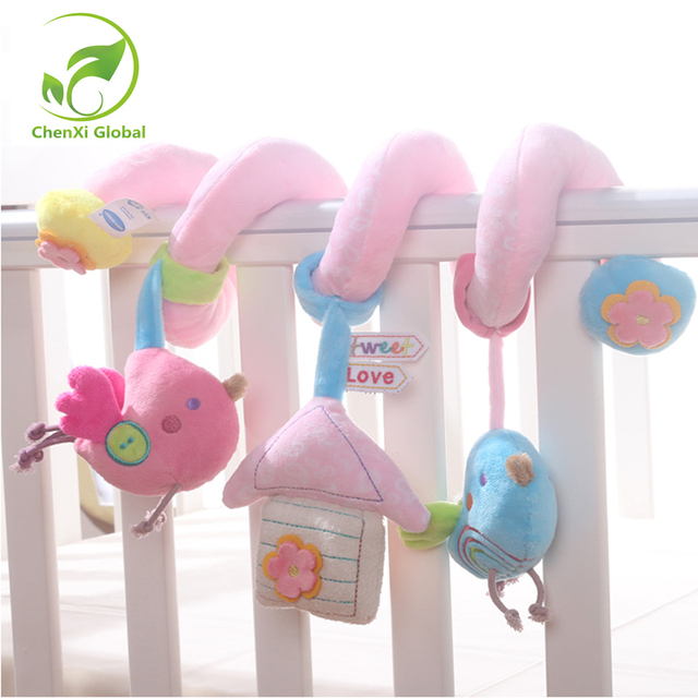 Soft Baby Toys Musicial Spiral BedStroller Car Seat Hanging Rattle Educational Rattles For Newborns Gifts