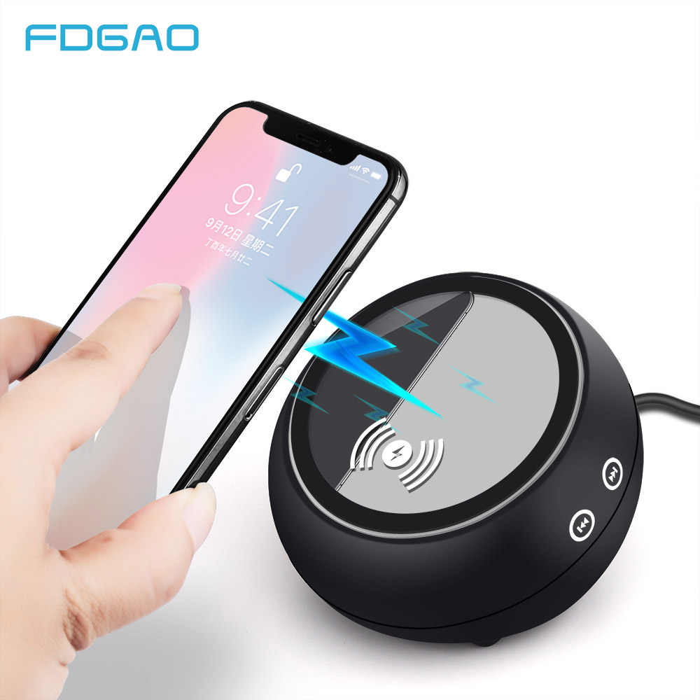 Fdgao Portable Bluetooth Speaker Qi Wireless Charger Fast Charging Pad Music Loudspeaker For Iphone Xs Max Xr X 8 Samsung S9 S8 Mobile Phone Charger Phone Chargercharger For Iphone Aliexpress