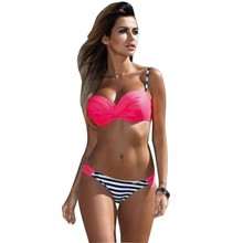 Dot Swimsuit Stripped Bikini Set Push Up for Women Bathing Suit Swimwear 2017